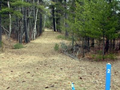 Hanson Hills Recreation Area, Grayling Rotary DGC, Hole 2 Tee pad
