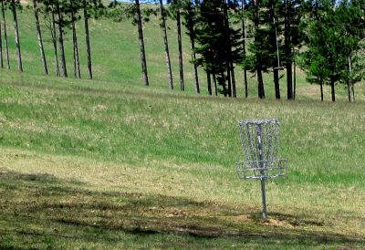 Hanson Hills Recreation Area, Grayling Rotary DGC, Hole 19 Midrange approach