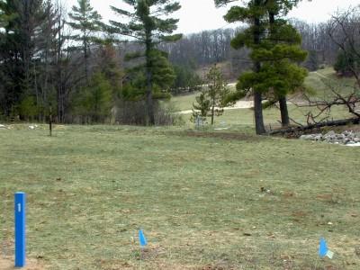Hanson Hills Recreation Area, Grayling Rotary DGC, Hole 1 Long tee pad