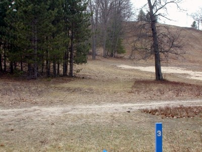 Hanson Hills Recreation Area, Grayling Rotary DGC, Hole 3 Tee pad