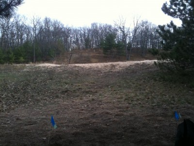 Hanson Hills Recreation Area, Grayling Rotary DGC, Hole 4 Long tee pad