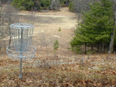 Hanson Hills Recreation Area, Grayling Rotary DGC, Hole 4 Reverse (back up the fairway)