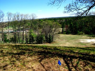 Hanson Hills Recreation Area, Grayling Rotary DGC, Hole 19 Tee pad