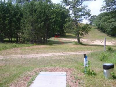 Hanson Hills Recreation Area, Grayling Rotary DGC, Hole 3 Tee pad