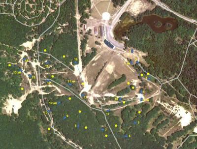 Hanson Hills Recreation Area, Grayling Rotary DGC, Hole 1