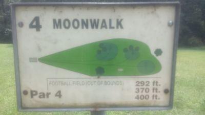 Redan Park, Main course, Hole 4 Hole sign