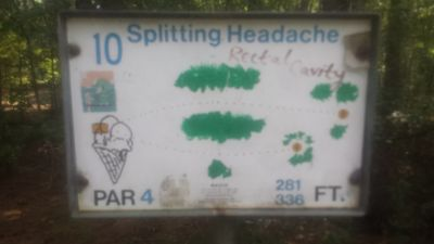 Redan Park, Main course, Hole 10 Hole sign