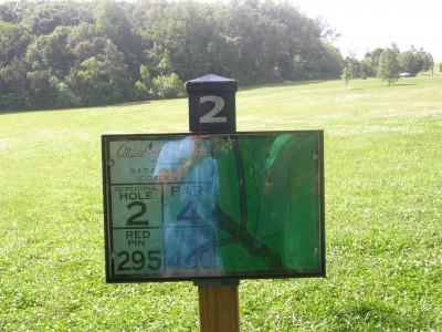 Athens Regional Park, Main course, Hole 2 Hole sign