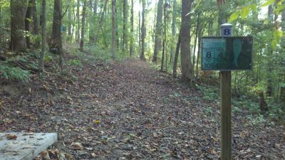 Athens Regional Park, Main course, Hole 8 Long tee pad