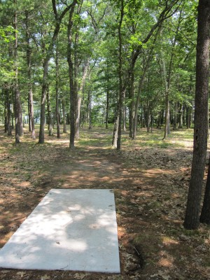Udell Rollways, Main course, Hole 2 Long tee pad