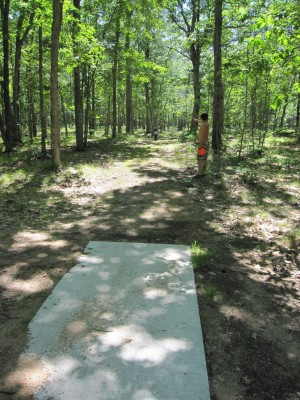 Udell Rollways, Main course, Hole 13 Long tee pad