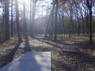 Lemon Lake County Park, Gold, Hole 13 Tee pad