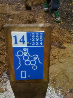 Estabrook Park, Main course, Hole 14 Hole sign