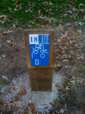 Estabrook Park, Main course, Hole 18 Hole sign