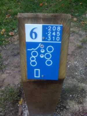 Estabrook Park, Main course, Hole 6 Hole sign