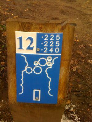 Estabrook Park, Main course, Hole 12 Hole sign