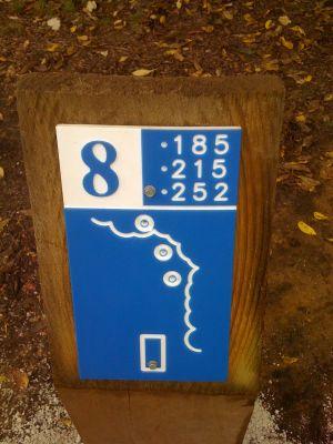 Estabrook Park, Main course, Hole 8 Hole sign