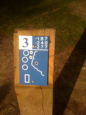 Estabrook Park, Main course, Hole 3 Hole sign