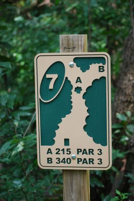 Butterworth Park, Main course, Hole 7 Hole sign