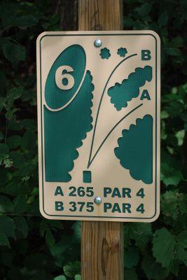 Butterworth Park, Main course, Hole 6 Hole sign
