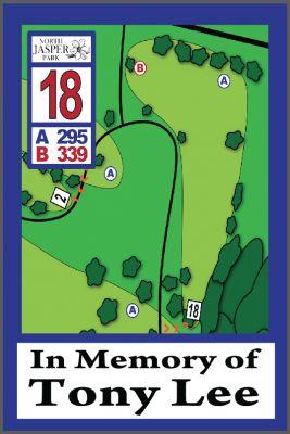 North Jasper Park, Main course, Hole 18 Hole sign