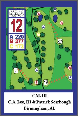 North Jasper Park, Main course, Hole 12 Hole sign