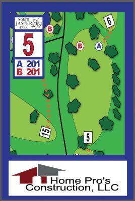 North Jasper Park, Main course, Hole 5 Hole sign