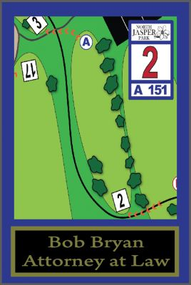 North Jasper Park, Main course, Hole 2 Hole sign