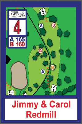 North Jasper Park, Main course, Hole 4 Hole sign