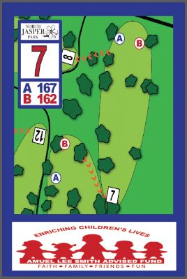 North Jasper Park, Main course, Hole 7 Hole sign