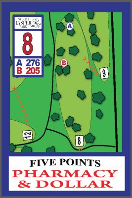 North Jasper Park, Main course, Hole 8 Hole sign