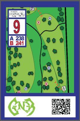 North Jasper Park, Main course, Hole 9 Hole sign