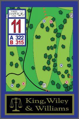 North Jasper Park, Main course, Hole 11 Hole sign