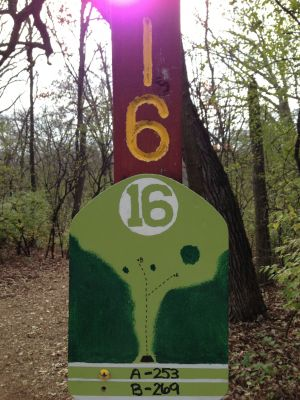 Fox River County Park, Grey Fox, Hole 16 Tee pad
