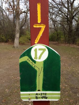 Fox River County Park, Grey Fox, Hole 17 Tee pad