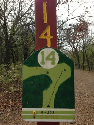 Fox River County Park, Grey Fox, Hole 14 Tee pad