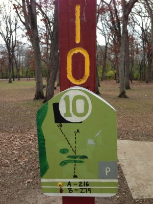Fox River County Park, Grey Fox, Hole 10 Tee pad