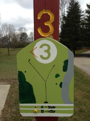 Fox River County Park, Grey Fox, Hole 3 Tee pad
