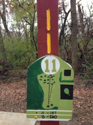 Fox River County Park, Grey Fox, Hole 11 Tee pad