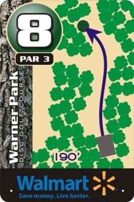Warner Park, Main course, Hole 8 Hole sign