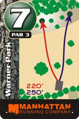 Warner Park, Main course, Hole 7 Hole sign