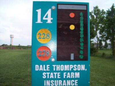 Fay Clark Park, Main course, Hole 14 Hole sign
