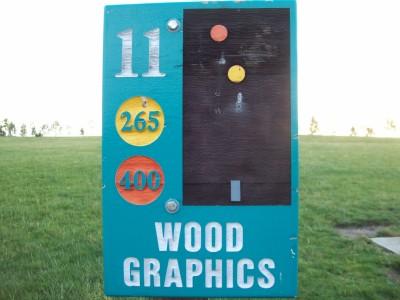 Fay Clark Park, Main course, Hole 11 Hole sign