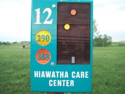 Fay Clark Park, Main course, Hole 12 Hole sign