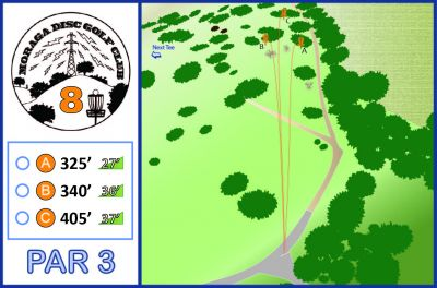Moraga Commons Park, Main course, Hole 8 Tee pad
