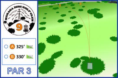 Moraga Commons Park, Main course, Hole 9 Tee pad