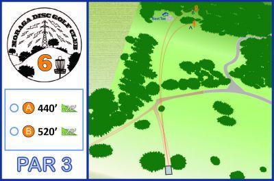Moraga Commons Park, Main course, Hole 6 Tee pad