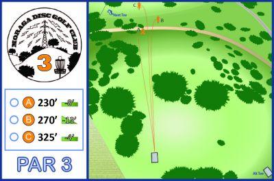 Moraga Commons Park, Main course, Hole 3 Tee pad