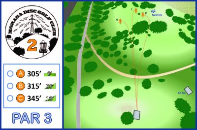 Moraga Commons Park, Main course, Hole 2 Tee pad