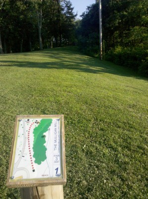 Charles Mill Lake, Main course, Hole 1 Long tee pad